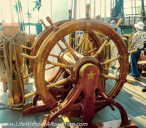 U.S.S. Constitution Ships Wheel
