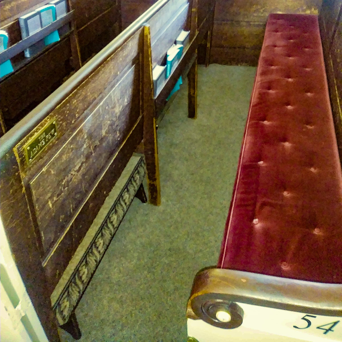 Adams Presidential Pew at Church of the Presidents in Quincy