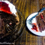 Home Made Black Forest Cake on plate