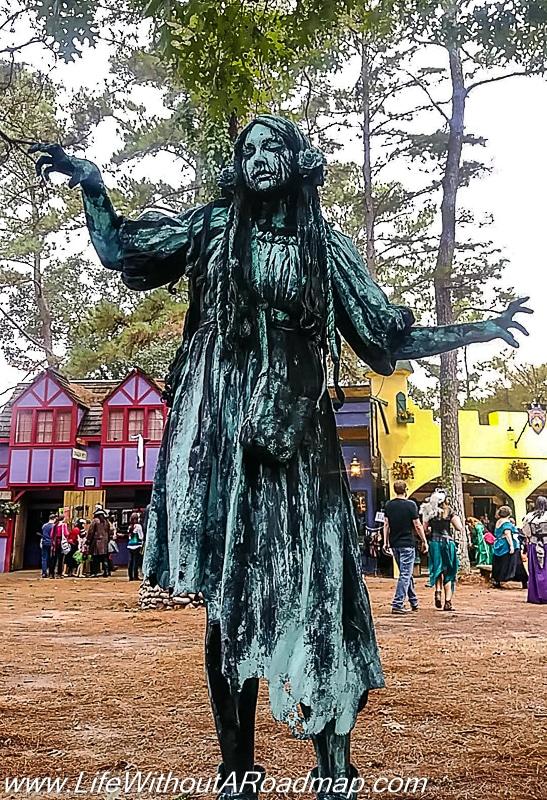 Renfest human sculpture