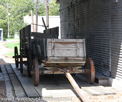 Antique wagons sitting in sun