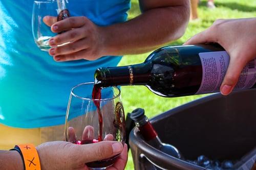Wine Festival red wine pour