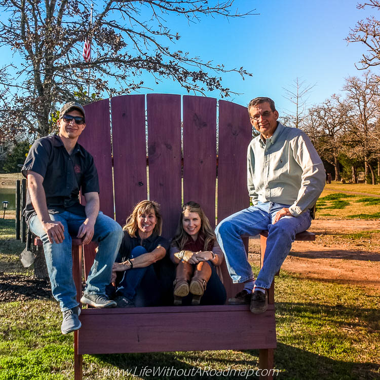 Cooke family in big maroon chair