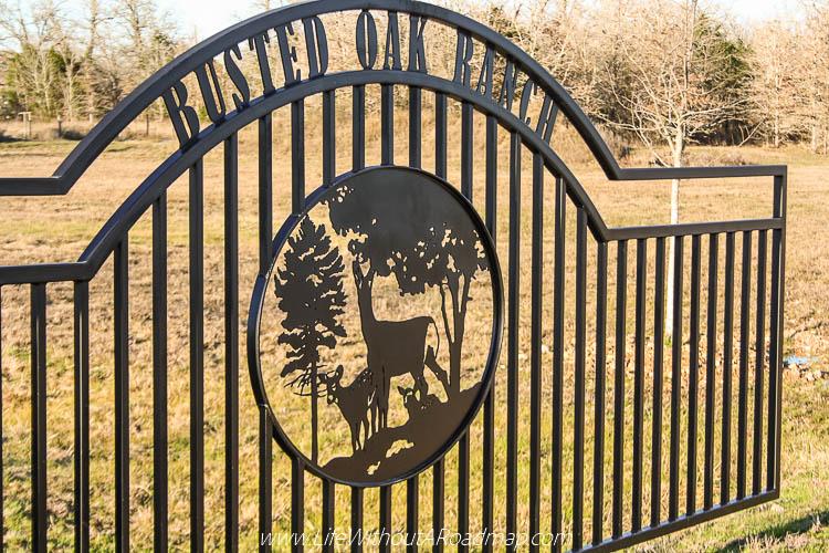 Busted Oak Cellars main gate