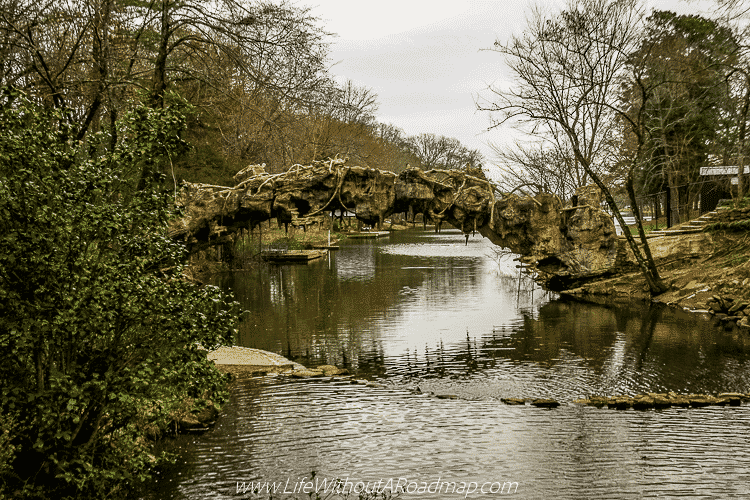 Tree bridge at The Old Mill, North Little Rock, Arkansas