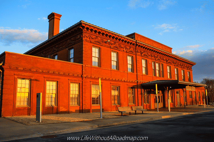 The old Choctaw train station in Little Rock, Arkansas