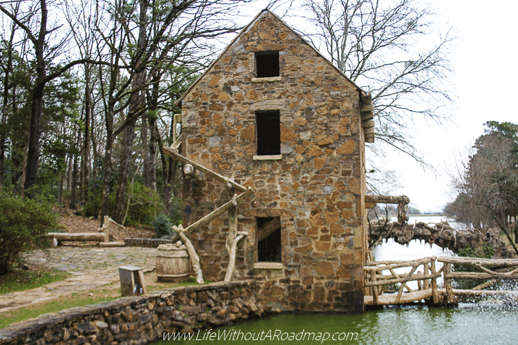 The Old Mill building in North Little Rock, Arkansas