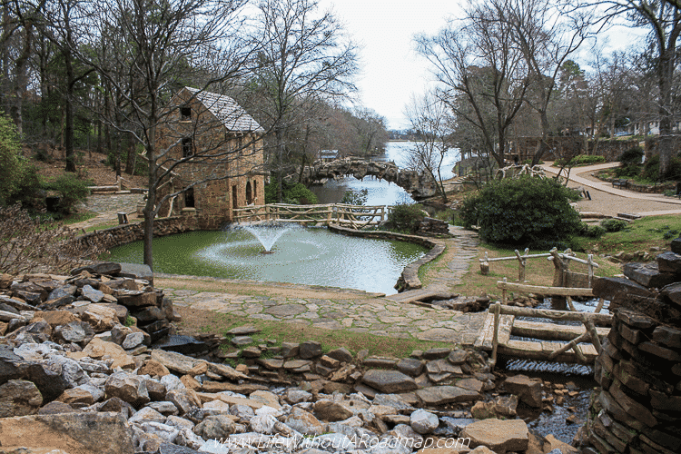 Walking along the paths at The Old Mill in North Little Rock, Arkansas
